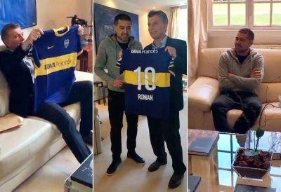 Riquelme visitó a Mauricio Macri en Olivos
