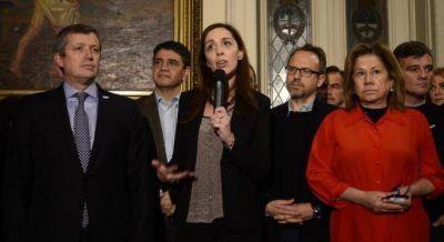 Junto a intendentes y diputados, Vidal pidi� por el Fondo del Conurbano en el Congreso