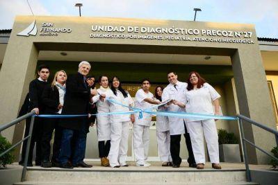 Andreotti inauguró la Unidad de Diagnóstico Precoz y habló sobre la situación en el hospital Cordero