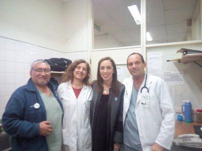 En su visita sorpresa al Interzonal, Vidal escuchó el reclamo de los médicos