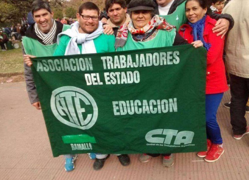 ATE Regional dijo presente en la multitudinaria movilización en La Plata