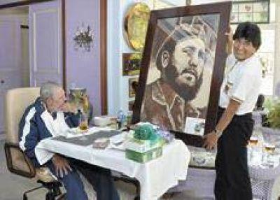 Evo se encontr� con Fidel en su visita a Cuba