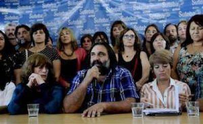 Los docentes del Suteba paran hoy en la provincia de Buenos Aires