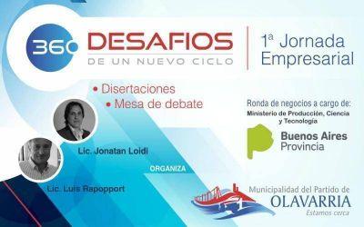 """Olavarría sede de la primera Jornada Empresarial """"360 Desafíos de un nuevo ciclo"""""""