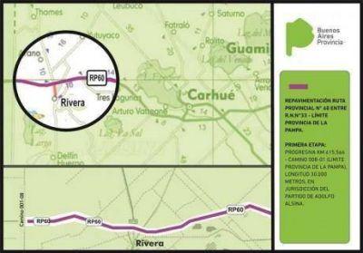 """""""La respuesta del gobierno de Buenos Aires para repavimentar la Ruta 60 fue inmediata"""", dijo intendente Hirtz"""