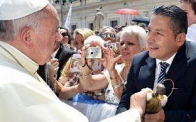 Intendentes bonaerenses se re�nen con el Papa