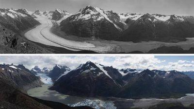 Cambio climático: el retroceso de los glaciares expuesto con crudeza