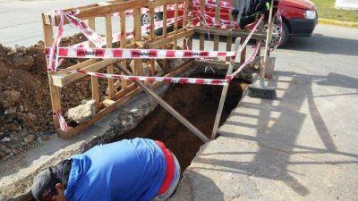 Arreglan los históricos baches de Ameghino