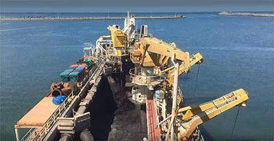 Comenzó el dragado del puerto de Quequén