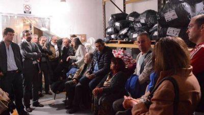 Sabbatella y Ghi, con empresarios en una fábrica de Morón por proyecto de apoyo a Pymes
