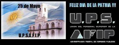 UPSAFIP: unas palabras dedicadas a la Revoluci�n de mayo