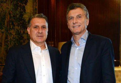 Martino visitó a Mauricio Macri en Casa Rosada