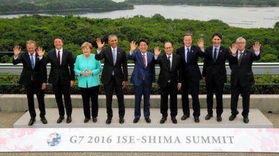 Culminó la cumbre del G-7 marcada por la economía global y la geopolítica