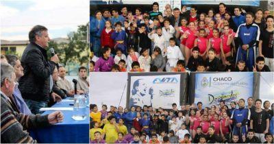 Lanzamiento de los Juegos Evita: Peppo convocó a defender el deporte