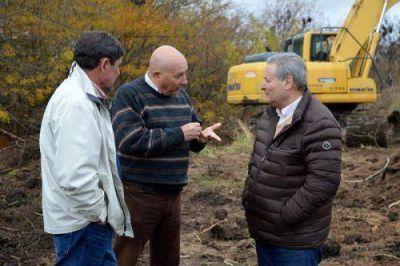 Alessandro supervisó los trabajos de rectificación del Arroyo del Burro Muerto