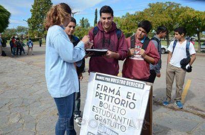 Boleto: estudiantes se movilizan contra el veto del Intendente