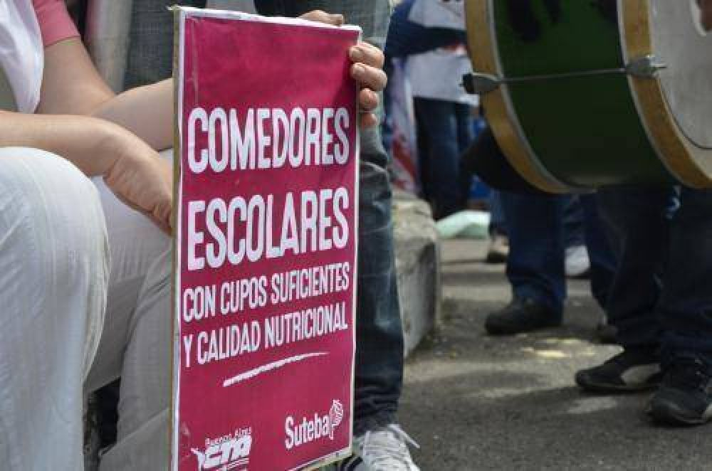 SUTEBA DENUNCIA: UN 30% MÁS DE PIBES NECESITAN COMEDORES ESCOLARES