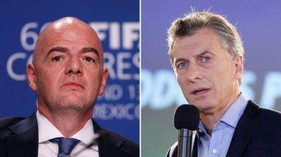 Cómo fue el diálogo entre Mauricio Macri y el presidente de la FIFA, Gianni Infantino