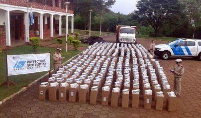 Secuestraron 17.550 cartones de cigarrillos en Puerto Iguazú