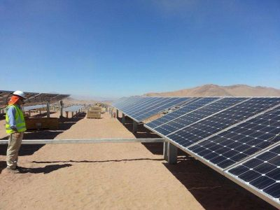 Parque jujeño de energía solar brindará electricidad para el país