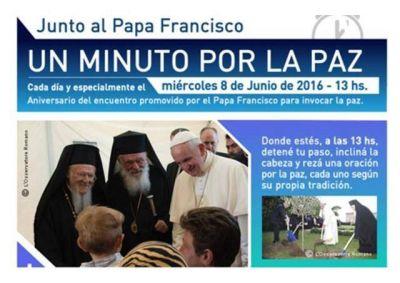 UMOFC: Un minuto por la paz, todos juntos con el Papa Francisco