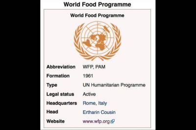 Francisco visitará el 13 de junio, el Programa Mundial de Alimentos