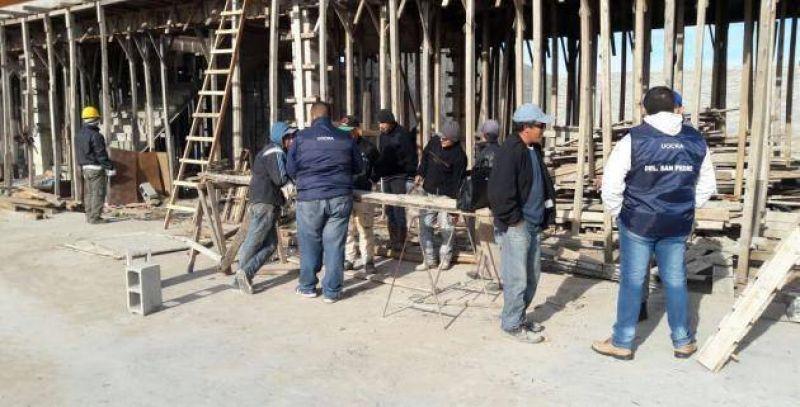 Uocra registra empleados en construcción de capitales chinos de Lucio Mansilla y 11 de Septiembre