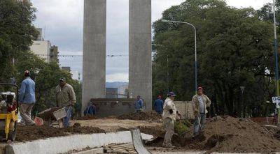La obra de la SAT en el monumento al Bicentenario concluirá en una semana