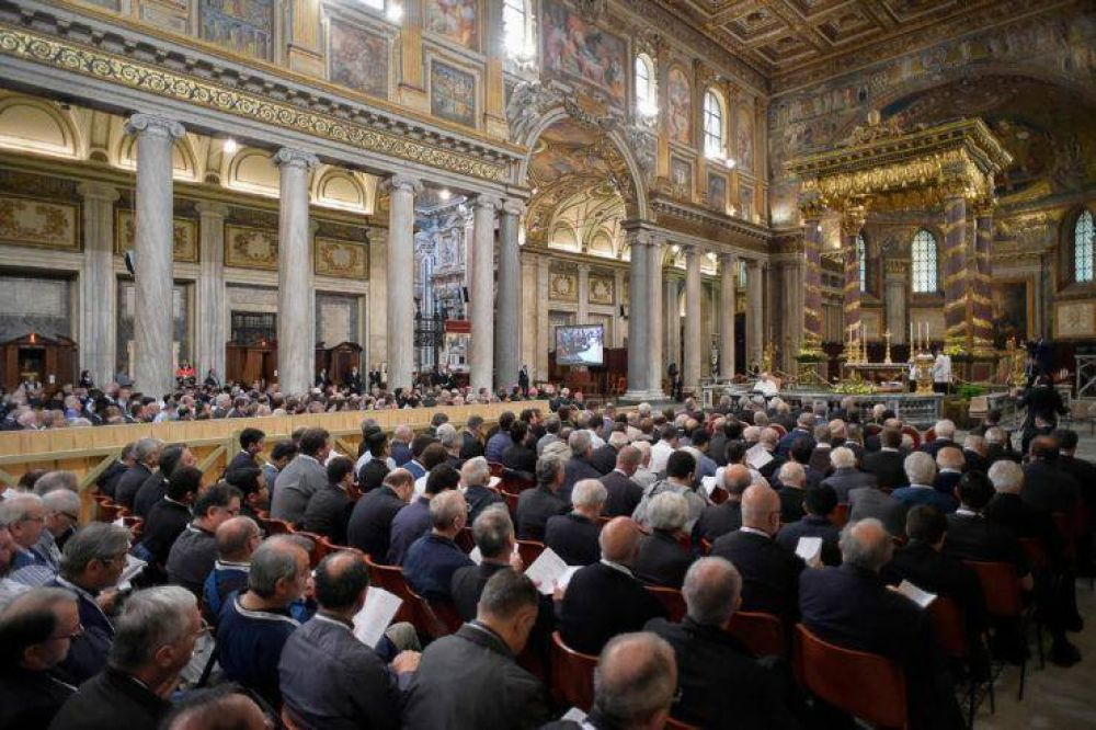 Segunda meditación del Papa en el retiro del Jubileo Sacerdotal: 'Dios no se cansa de perdonarnos'