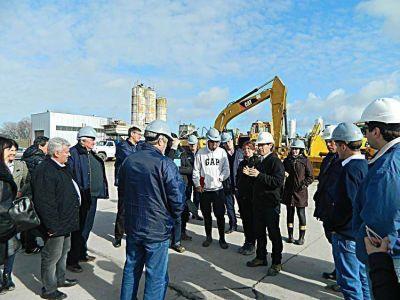 Misión del BID recorrió la estación depuradora de aguas residuales