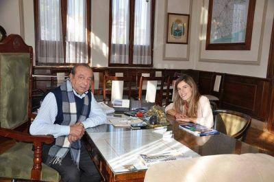 Por temas locales y nacionales, Sánchez recibió a Aprile