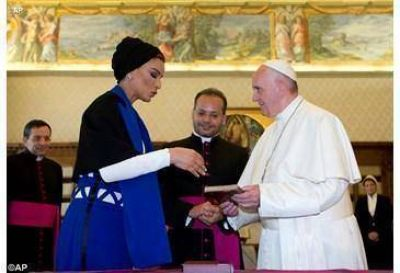 Audiencia del Papa a la Jequesa de Qatar