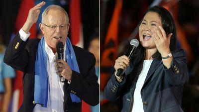 Pedro Pablo Kuczynski aventaja ligeramente a Keiko Fujimori en unas reñidas elecciones presidenciales de Perú