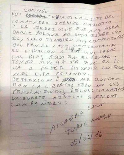 Otra carta de Milagro Sala desde la c�rcel:
