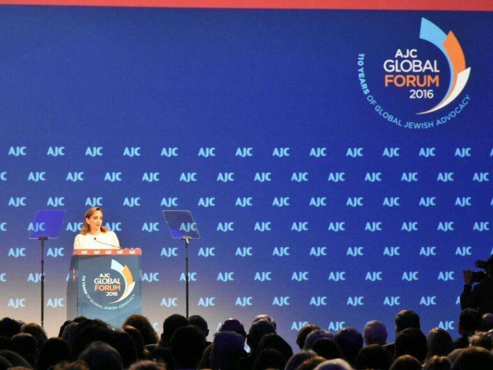 Discurso de la Canciller mexicana Claudia Ruiz Massieu en el Foro Global del Comité Judío Americano