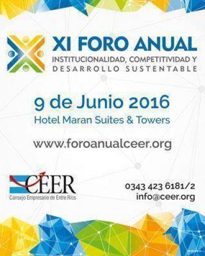 El jueves importantes figuras expondrán en el Foro Anual del Consejo Empresario de Entre Ríos