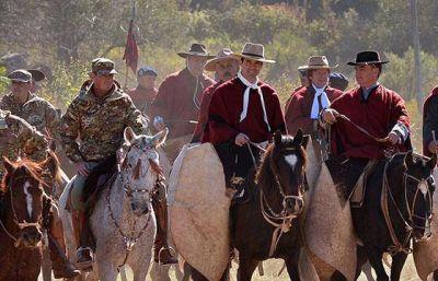 Urtubey rindió homenaje a Güemes en la Quebrada de la Horqueta