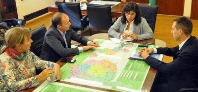 Ortiz se reunió con Insaurralde y Gray por la implementación del SAME