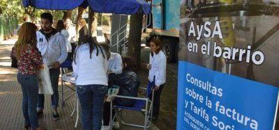 Contin�a la campa�a informativa de AySA por la tarifa social
