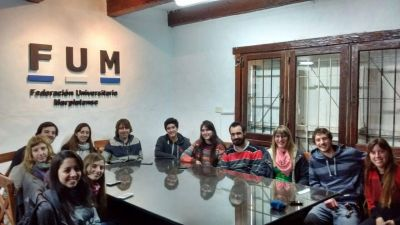 Se inauguró el local de la Federación Universitaria Marplatense