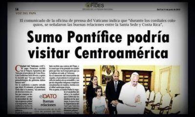 """""""EL PAPA PODRÍA VISITAR AMÉRICA CENTRAL"""""""