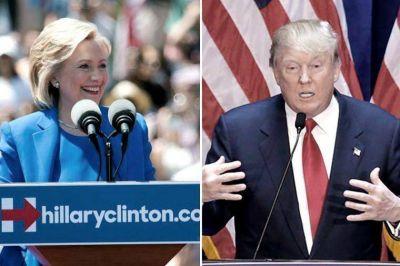 Clinton y Trump comienzan su hist�rica batalla por llegar a la Casa Blanca