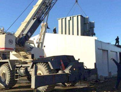 Trasladaron el módulo potabilizador a la nueva planta del Río Pipo