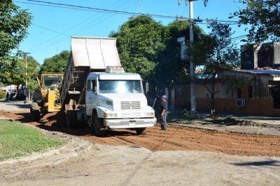 Constante intervención de la comuna para mejorar calles de la ciudad