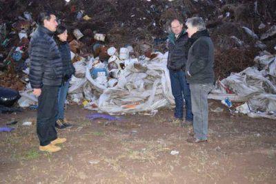 Pacheco recorrió con Irigoin la Planta de Residuos Sólidos Urbanos