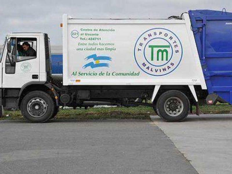 Trabajo a reglamento de recolectores de Transportes Malvinas