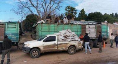 El Gobierno asiste con alimentos a los productores