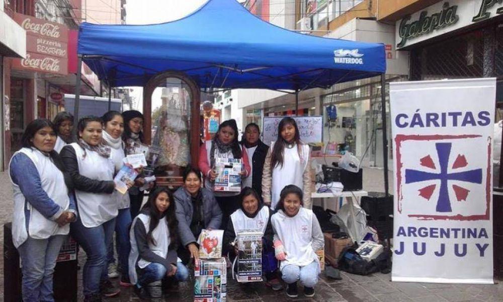 Cáritas agradeció el compromiso solidario con su colecta anual