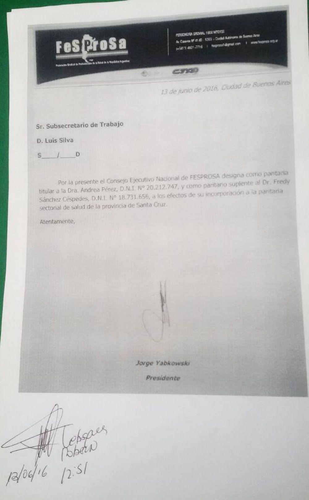 Nuevamente Alicia Kirchner desoye el pedido de APROSA