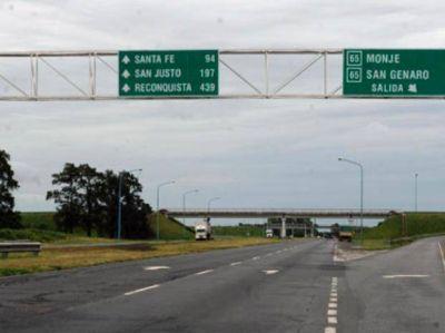La provincia repavimentar� la autopista Santa Fe-Rosario